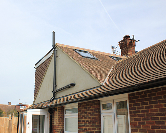 View examples of loft conversions where a hip to gable design has been used